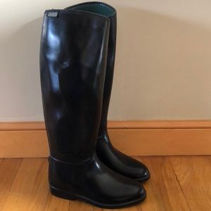 Women's Aigle Black Rain Boots Tall